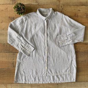 Silence + Noise Womens Buttondown Shirt